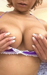Top Hot Asian Lingerie Videos - Sumire Matsu Asian in fishnets fondles cans while uses vibrator