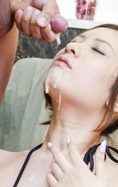 Japanese Lingerie Categries - Yui Kasuga has nooky aroused with vibrators and gets cum on face