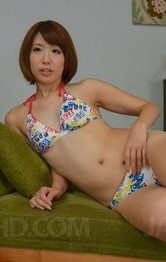 Hot Lingerie Toys - Seira Matsuoka rubs cunt and puts vibrator on it before blowjob