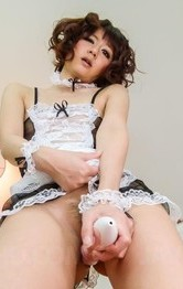 Asian Big Tits Lingerie - Yurika Miyachi with vibrators on crack gets cum from sucked woody