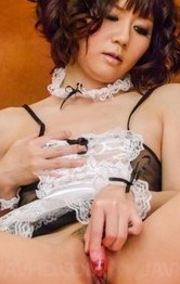 Top Asian Lingerie Porn Models - Yurika Miyachi with vibrators on crack gets cum from sucked woody