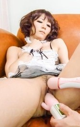 Sexy Milf Lingerie - Yurika Miyachi with vibrators on crack gets cum from sucked woody