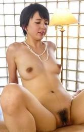 Top Japanese Lingerie Models - Sakura Aida Asian has hairy cooshie fucked a lot on hard table