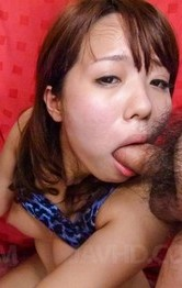 Asian Lingerie Models - Miyu Kaburagi has cum pouring from mouth to big tits from cocks