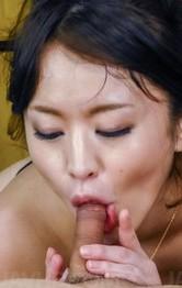 Lingerie Teen Porn - Kaede Niiyama with big assets sucks and licks boners at once