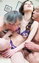 Bikini Lingerie Porn - Misaki Yoshimura has cum pouring from crack after hot threesome