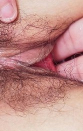 Hot Lingerie Fingering - Chiemi Yada Asian has hairy crack full of cum after frigging