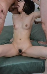 Japanese Lingerie Toys - Yume Aoi Asian with juicy bust enjoys cocks in mouth and in twat