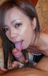 Lingerie Creampie Porn - Sakiko Asian licks dong so erotically and is fucked from behind