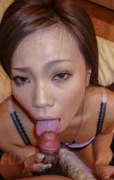 Hot Milf Lingerie - Sakiko Asian licks dong so erotically and is fucked from behind