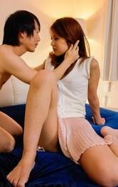 Amateur Japanese Lingerie - Karen Misaki Asian is undressed of mauve lingerie and screwed